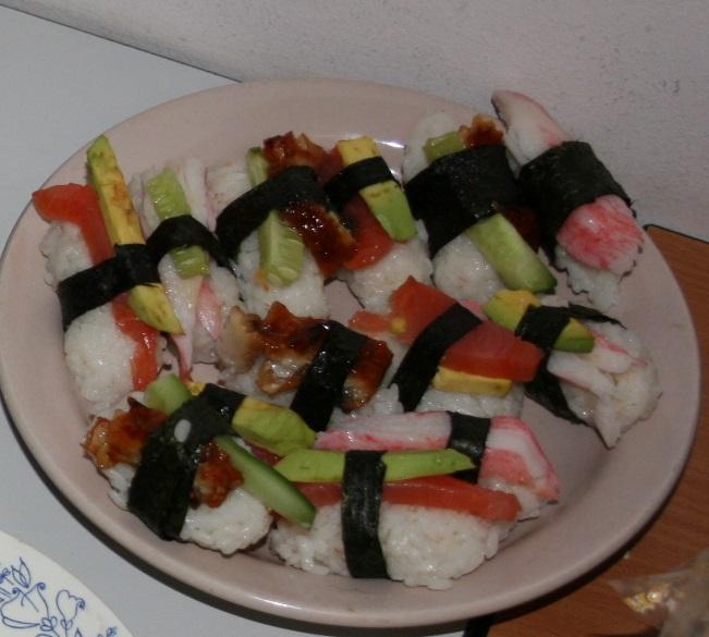 Мои самые первые суши в жизни